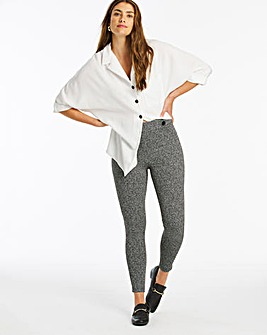 Textured Ponte Button Detail Leggings Regular