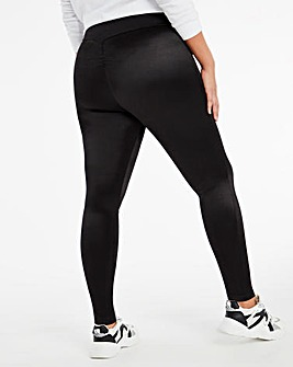 Black Booty Sculpting Leggings with Ruching Detail