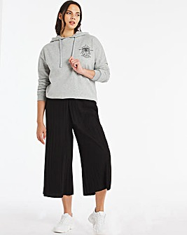Plisse Wide Leg Culottes