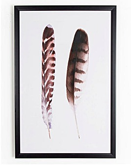 Graham & Brown Duo of Feathers Canvas