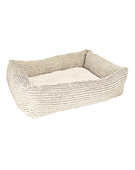 Rosewood Jumbo Cord Teddy Square Dog Bed