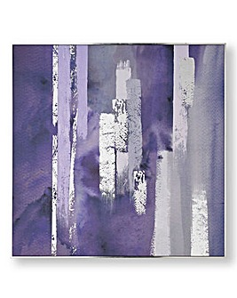 Graham & Brown Purple Brush Canvas