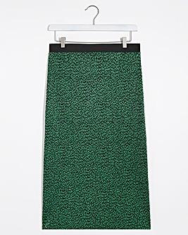 Animal Print Plisse Midi Skirt