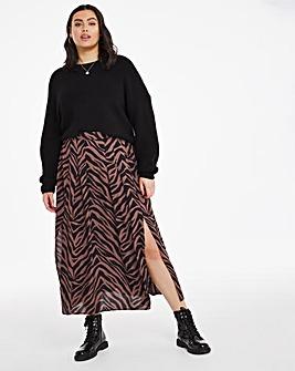 Midi Skirt with Side Split