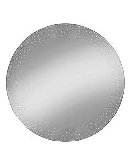 Crystal Border Frame on Silver Mirror