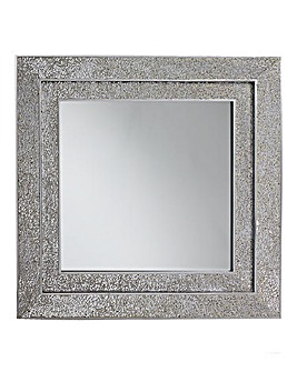 Silver Mosaic Double Frame Mirror