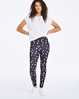 Mono Ditsy Floral Print Leggings Regular