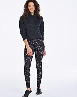 Ditsy Floral Print Leggings Regular