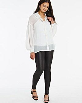 Wet Look Leggings Regular