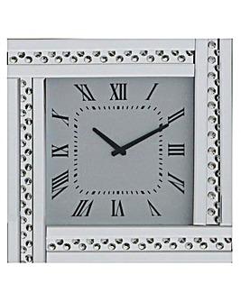Glitz Square Clock