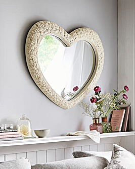 Shabby Chic Heart Mirror
