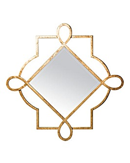 Hestia Gold Metal Wall Mirror