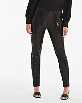 Sequin Front Leggings Regular