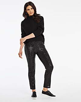Sequin Tapered Trousers