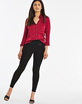 Ponte PU Trim Leggings