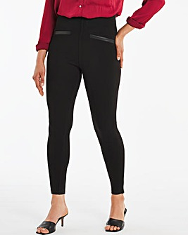 Ponte PU Trim Legging
