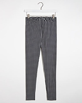 Gingham Check Print Leggings Regular