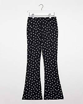 Mono Spot Print Kickflare Leggings Regular