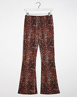Leopard Print Kickflare Leggings Regular
