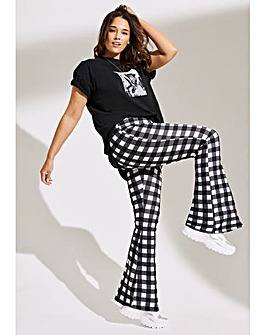 Mono Gingham Kickflare Leggings Regular