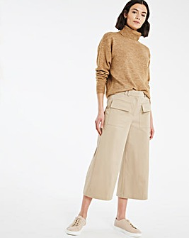 Cotton Sateen Utility Crop Trousers