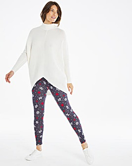 Heart & Mistletoe Novelty Print Leggings Regular