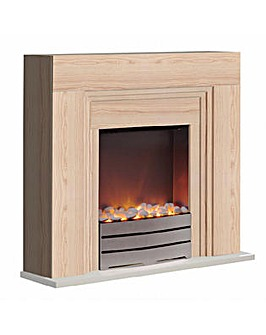 Warmlite York Fireplace Suite Beech
