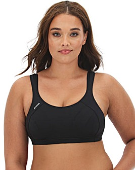 Shock Absorber High Impact Black Sports Bra