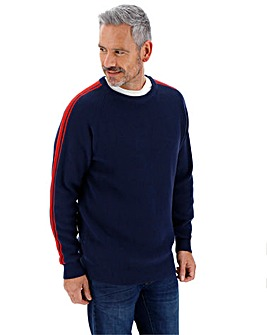 Navy Sleeve Detail Jumper Long