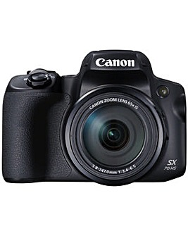 Canon SX70 20MP 65x Zoom Bridge Camera - Black