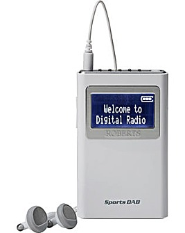Roberts Sports DAB 5 Radio - White