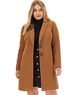 Camel Single Breasted Coat
