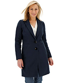 Navy Single Breasted Coat