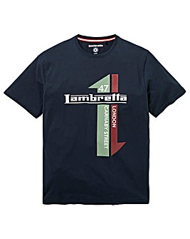 Lambretta Racing Stripe T-Shirt Long