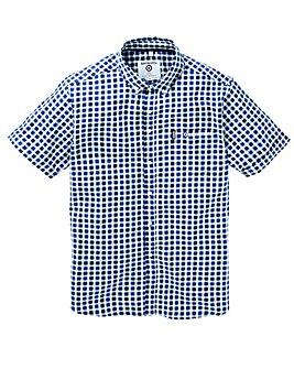 Lambretta Multi Gingham Short Sleeve Shirt Long