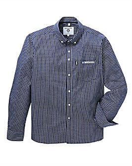 Lambretta Mini Grid Check Long Sleeve Shirt Long