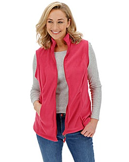 Raspberry Fleece Gilet