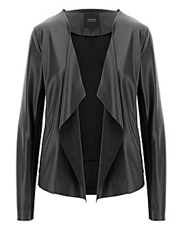 Black Waterfall PU Jacket