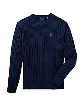 Luke Sport Spencer Cable Knit Jumper Long