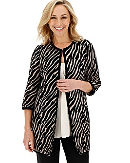 Zebra Print Edge to Edge Jacket
