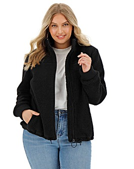Black Faux Fur Teddy Fleece