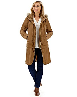 Lightweight Parka With Detachable Hem