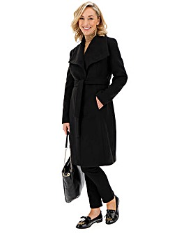 Black Belted Wrap Coat