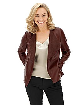 Wine Waterfall PU Jacket