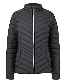 Black Lightweight Padded Packaway Jacket