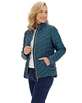 Teal Lightweight Padded Pack-away Jacket