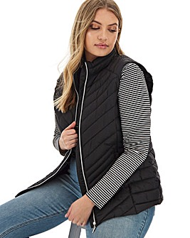 Black Lightweight Padded Gilet with Shower Resistant Coating