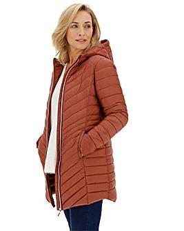 Rust Hooded Lightweight Padded Jacket