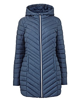 Navy Hooded Lightweight Padded Jacket