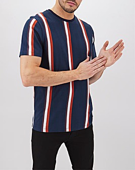 Short Sleeve Vertical Stripe T-Shirt